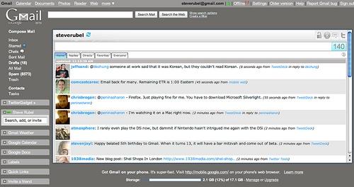 Añadir Facebook y Twitter en Gmail