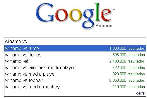 Sugerencias Google para encontrar software alternativo