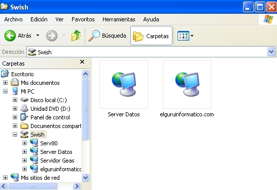 Accesos FTP desde el Explorador de Windows