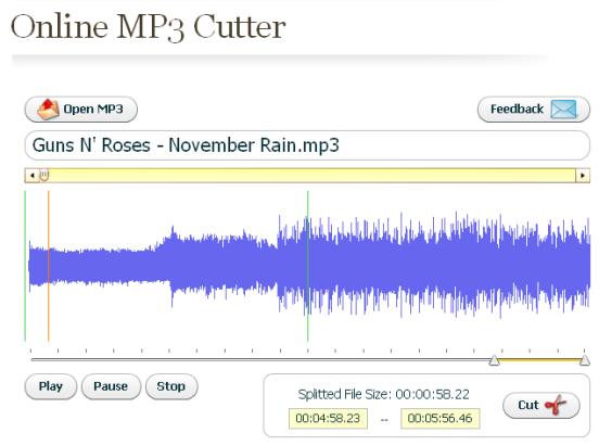 Cortar online archivos MP3