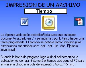 Programa para crear una tarea programada en Windows , imprimir un documento a una hora determinada, programar una impresion