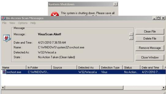 Actualización de McAfee se carga miles de ordenadores