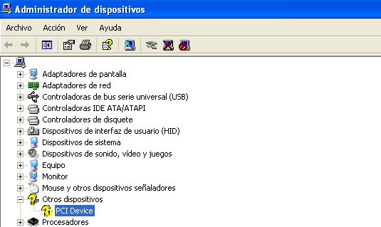 Dispositivos desconocidos en Windows