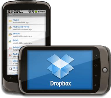 Disponible Dropbox para teléfonos Android