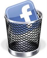 borrarse de facebook