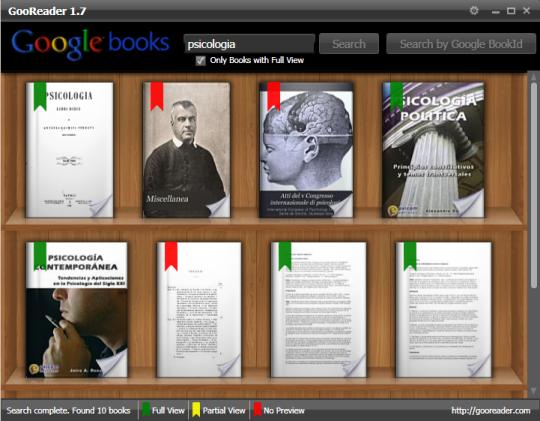Lector de libros para Google Books GooReader