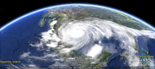 Estado del tiempo en directo desde Google Earth Clouds