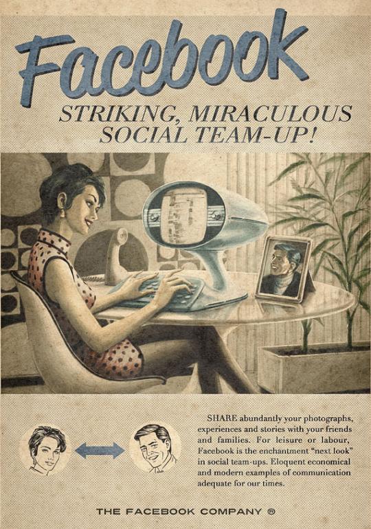 Facebook en los años 50