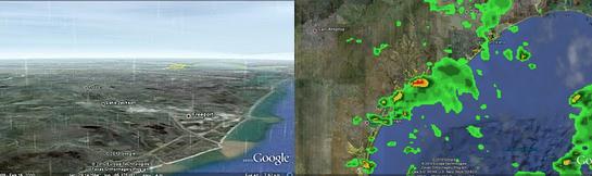 Estado del tiempo en directo desde Google Earth Google