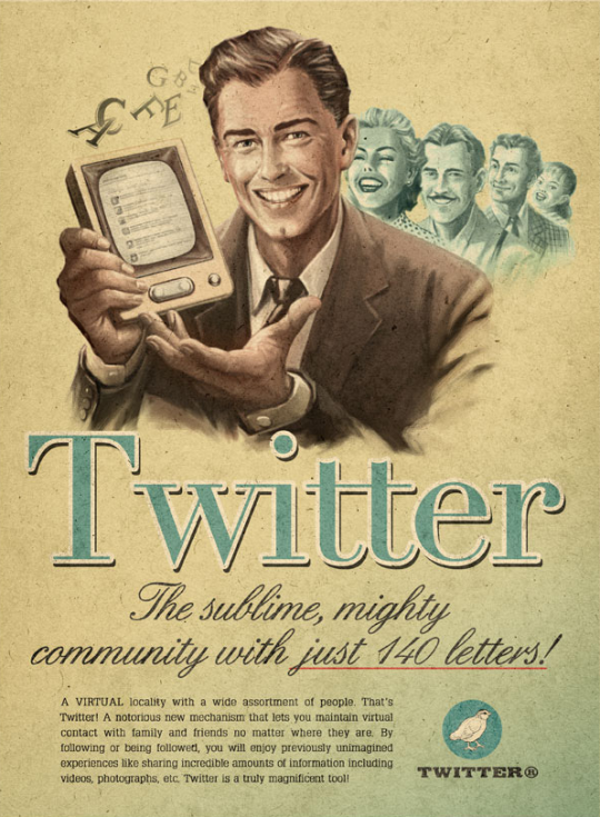 Twitter en los años 50