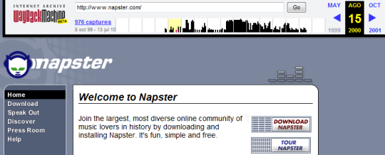 Napster en 1999