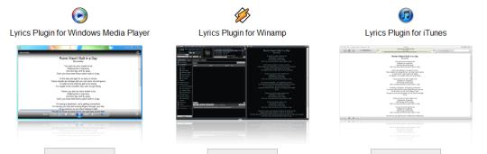 letras de la musica en Winamp, iTunes y Media Player
