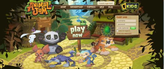 El juego infantil Animal Jam de National Geographic