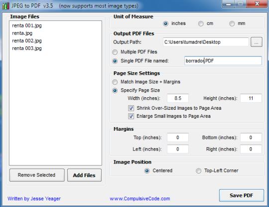 JPEG to PDF para pasar tus imágenes a PDF