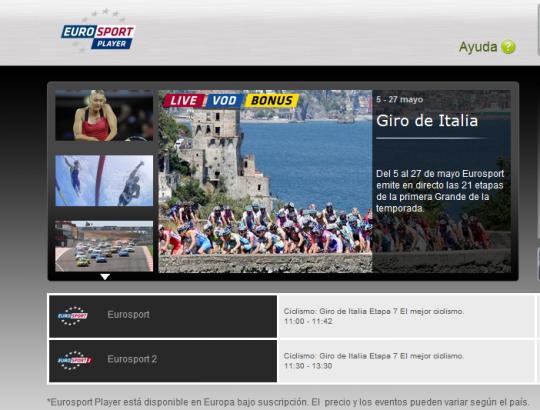 Ver EuroSport online