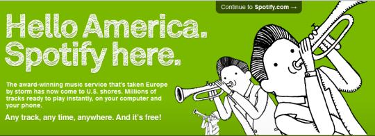 Spotify disponible en los Estados Unidos