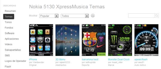 temas para Nokia 5130 XpressMusic
