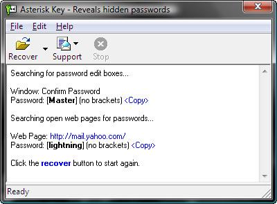 Ver las claves almacenadas en Windows