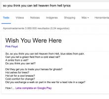 Buscar las canciones por su letra