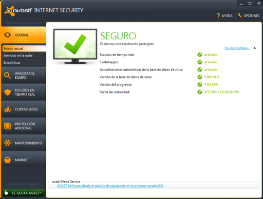 Descargar Avast! 7 Antivirus