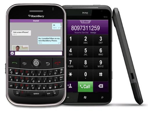 Viber Blackberry y Windows Phone