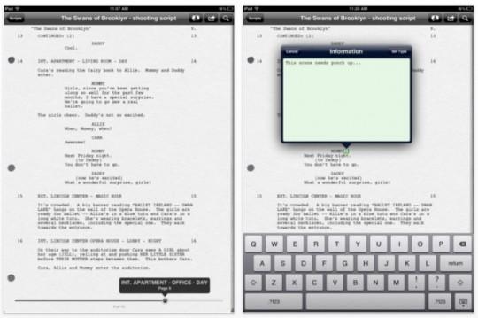 Final Draft Reader para iOS, tus guiones en el iPad.