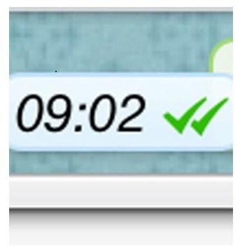 El doble check de Whatsapp