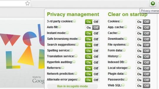 Control total de la privacidad en Google Chrome