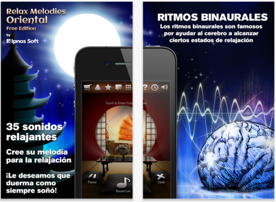 Aplicación móvil de sonidos relajantes