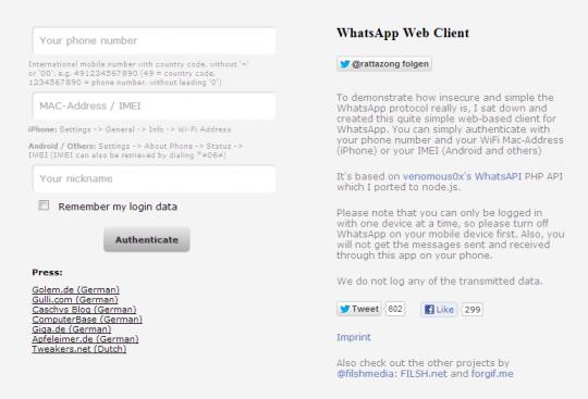 Un cliente web para WhatsApp