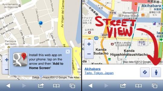 Google habilita Street View para móviles