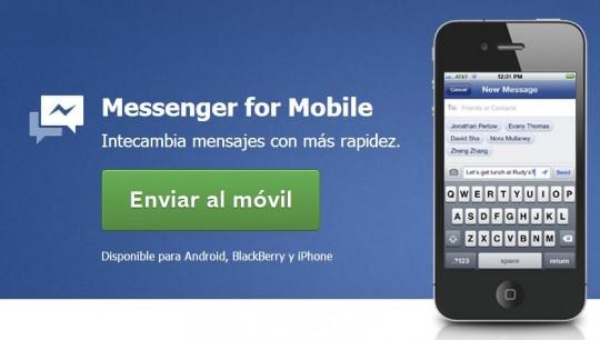 Facebook Messenger se puede usar sin cuenta de Facebook
