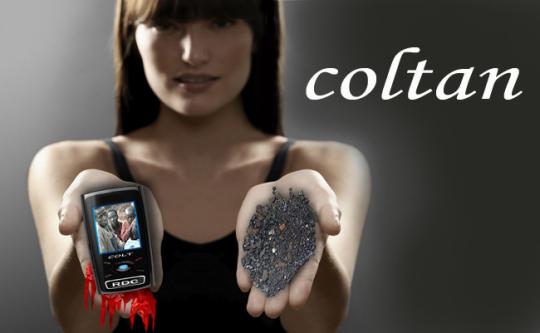Algo de coltán y Phone Story (app)