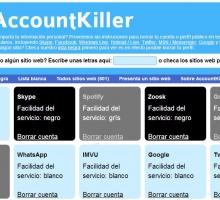 Eliminar tu cuenta en los servicios más populares de Internet