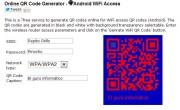 Convertir la clave del WiFi en un código QR