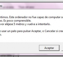 Creador de errores falsos en Windows
