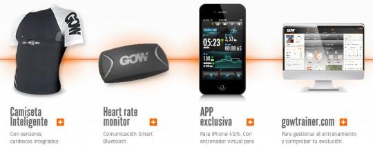 GOW, app para la ropa tecnológica del deportista