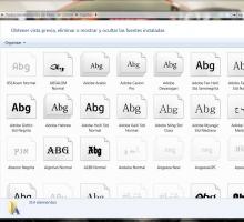 Instalar fuentes en Windows 7