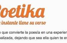 Poetika app, poesía personalizada