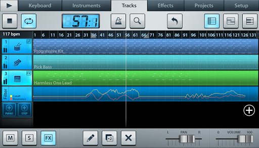 Editor de audio y secuenciador FL Studio Mobile