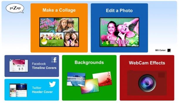 piZap, diviértete mientras editas imágenes online