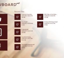 Editor de documentos PDF en Windows 8 Drawboard