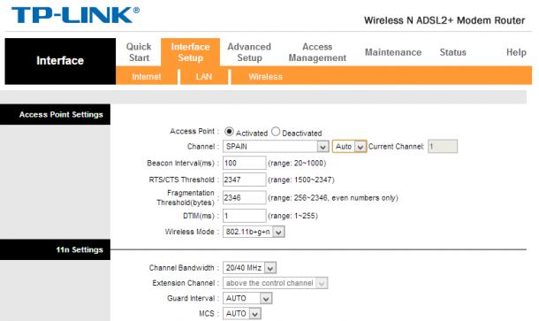 Configuración Router TP-Link