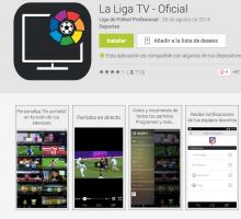 La Liga TV: APP oficial para seguir la liga de fútbol