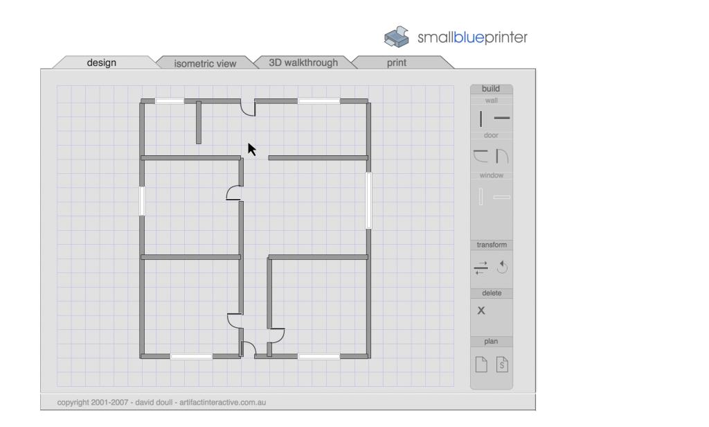 Dise ar plano sencillo de una casa o local for Disenar habitacion 3d online gratis
