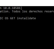 Ver cuando se instaló Windows