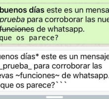 Aplicar formato y tipo de letra en WhatsApp
