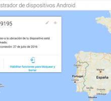 Encontrar o bloquear un móvil Android