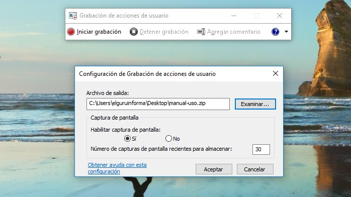 Grabar acciones de pantalla en windows 10 - Grabador de escritorio ...