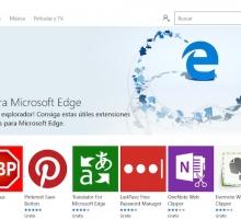 Instalar extensiones en el navegador Edge